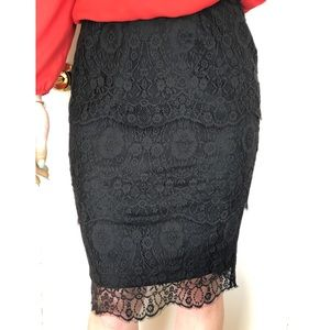 St. John Tiered Lace Skirt